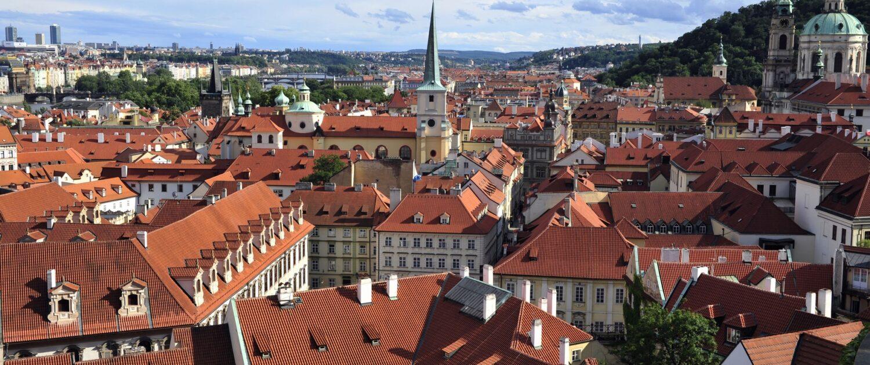 Praha z Jižních zahrad