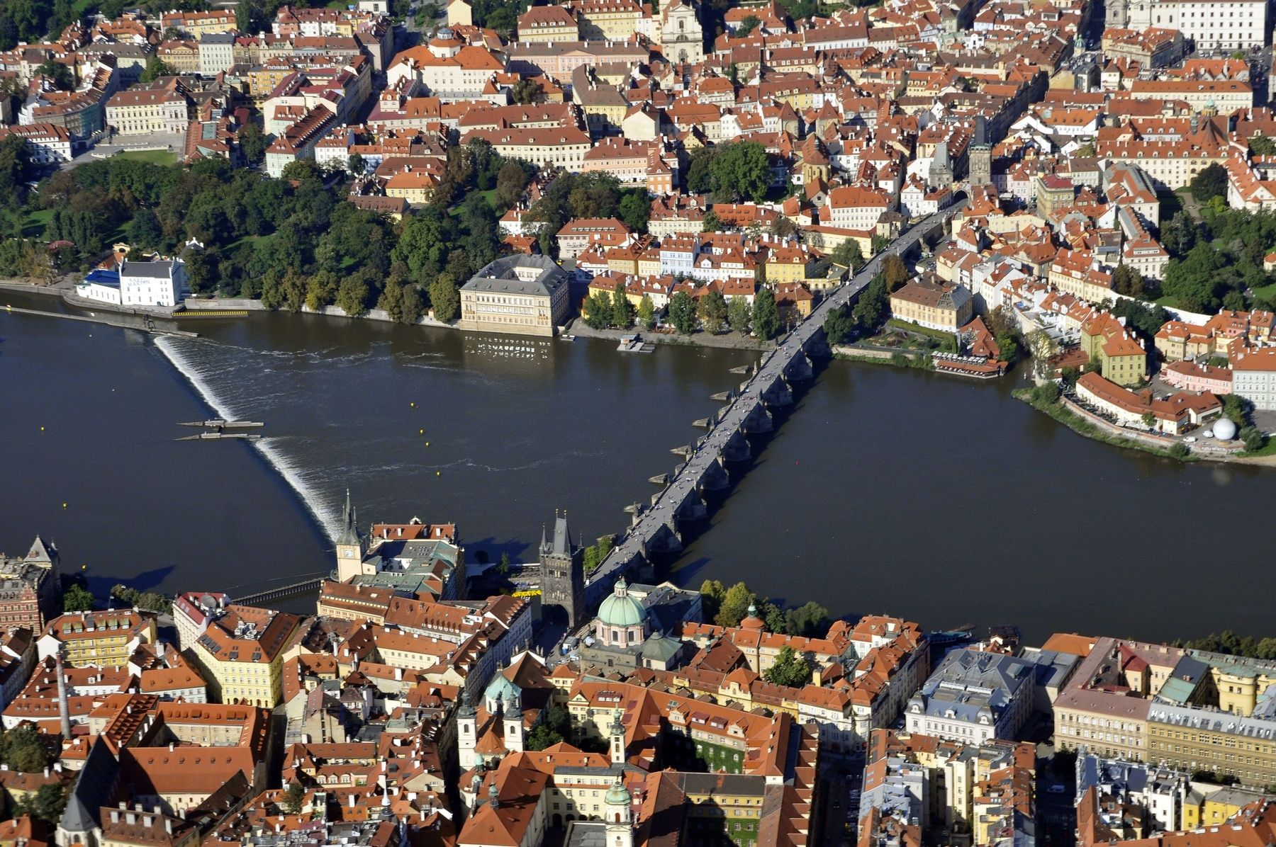 Malá strana, Karlův most letecky