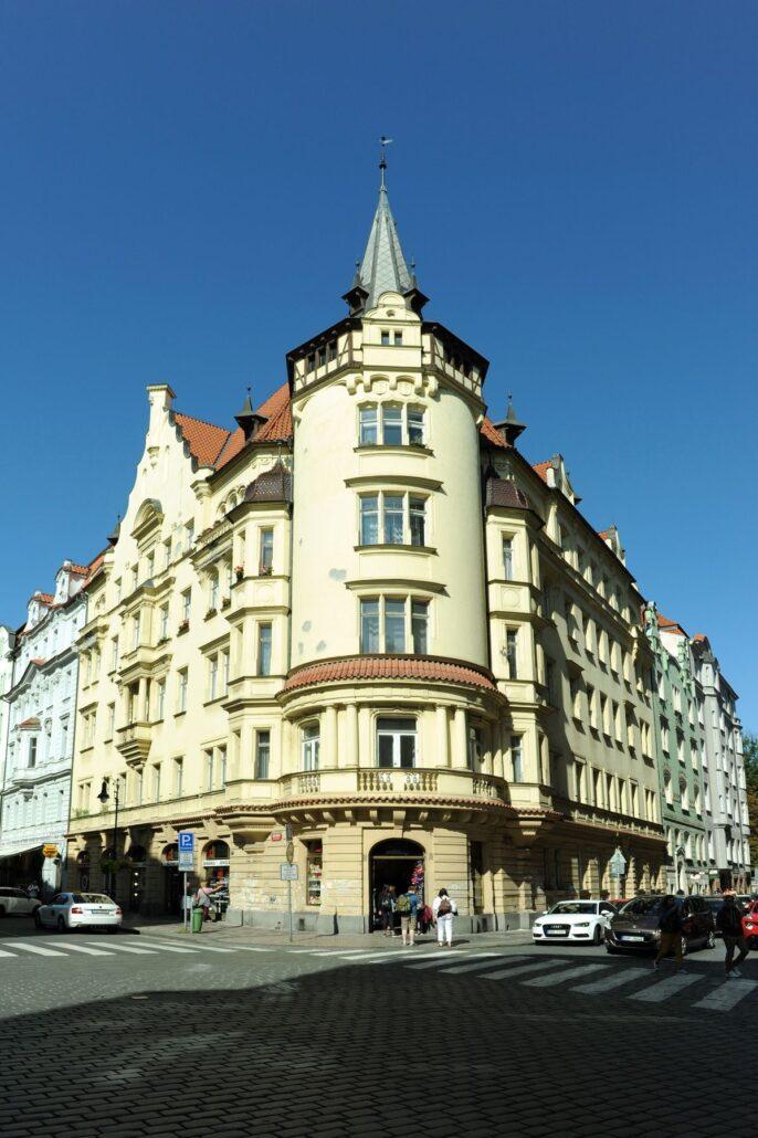 Roh Kaprovy a Maiselové ul Staré Město Pražské