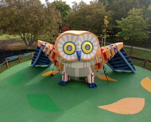 Obří herní sova Centrálního parku Prahy 13