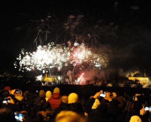 Novoroční ohňostroj 2020