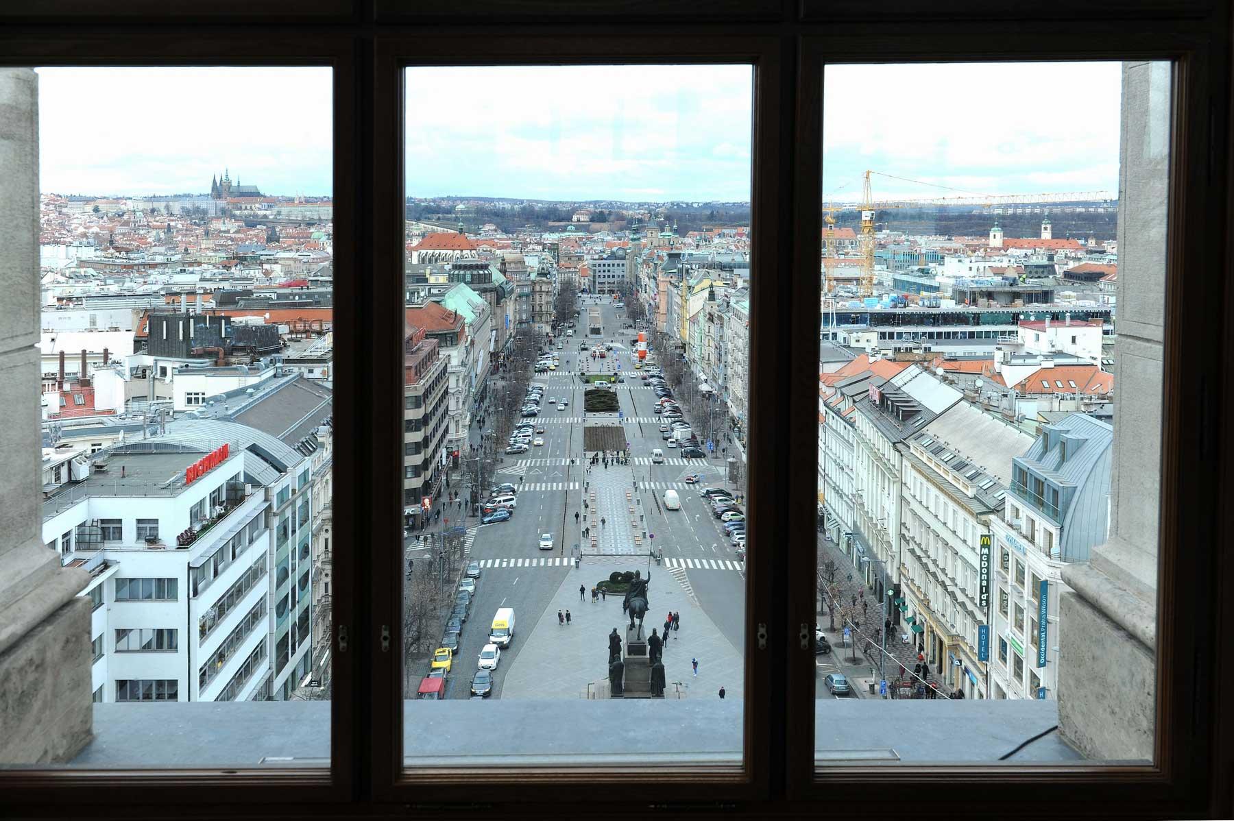 Pohled z Kopule Národního muzea