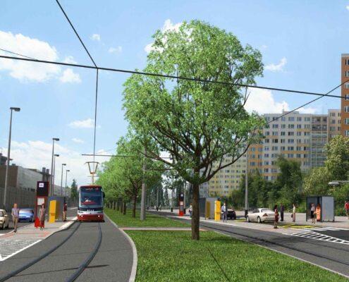 stavební povolení na novou tramvajovou trať Divoká Šárka – sídliště Na Dědině