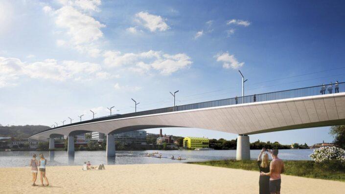 Praha vypsala tendr na zhotovitele Dvoreckého mostu, který nově propojí Prahu 4 a Prahu 5