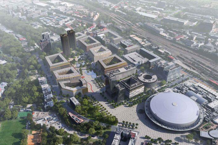 Praha 9 chce vybudovat nové centrum městské části u O2 Arény